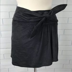 Express ALine Skirt Bow Stretch Soft Suede Leather